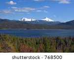 Snow capped Colorado Rockies - stock photo