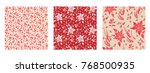 holiday seamless pattern.... | Shutterstock .eps vector #768500935
