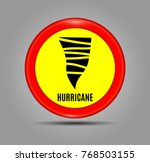 stormy weather ahead sign board ... | Shutterstock .eps vector #768503155