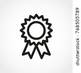 award icon isolated on white... | Shutterstock .eps vector #768505789