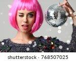 portrait of young beautiful... | Shutterstock . vector #768507025