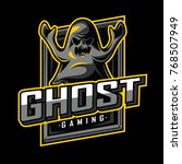 ghost mascot  icon  and game... | Shutterstock .eps vector #768507949