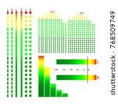 graphic representation of sound ... | Shutterstock .eps vector #768509749