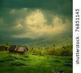 Mystery Mountain Landscape. Ra...