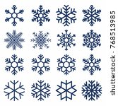 set of vector snowflakes.... | Shutterstock .eps vector #768513985