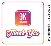 9000 followers thank you | Shutterstock .eps vector #768514831