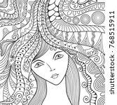 beautiful fashion women  girl... | Shutterstock .eps vector #768515911