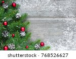 Christmas Background With Fir...