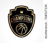 a basketball champions badge...   Shutterstock .eps vector #768527134