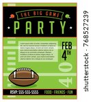 an american football party... | Shutterstock .eps vector #768527239