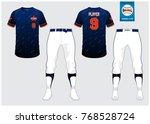 baseball uniform  sport jersey  ... | Shutterstock .eps vector #768528724