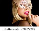 portrait of a beautiful...   Shutterstock . vector #768529909