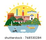 taiwan travel concept  famous... | Shutterstock .eps vector #768530284