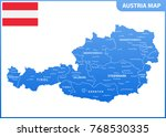 the detailed map of the austria ... | Shutterstock .eps vector #768530335