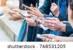group of hand with smartphone | Shutterstock . vector #768531205