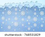 origami made mobile paper... | Shutterstock .eps vector #768531829