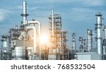 close up industrial view at oil ... | Shutterstock . vector #768532504