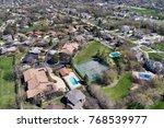 aerial view of a neighborhood...   Shutterstock . vector #768539977