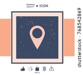 map pointer icon | Shutterstock .eps vector #768542869