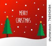 vector of christmas paper card...   Shutterstock .eps vector #768543484