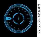 futuristic speedometer... | Shutterstock .eps vector #768543721