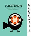 movie and film modern retro... | Shutterstock .eps vector #768550189