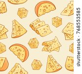 cheese doodle pattern. vector...