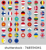 set of round buttons with flags ... | Shutterstock .eps vector #768554341