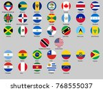 set of round buttons with flags ... | Shutterstock .eps vector #768555037