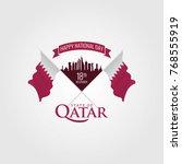 qatar national day | Shutterstock .eps vector #768555919