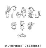 set of cute little princee and...   Shutterstock .eps vector #768558667