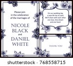 vintage delicate invitation... | Shutterstock .eps vector #768558715