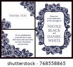 vintage delicate invitation... | Shutterstock .eps vector #768558865