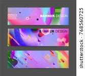 fluid color background. liquid ... | Shutterstock .eps vector #768560725