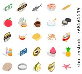 food preparation icons set.... | Shutterstock .eps vector #768565519