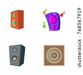 speaker icon set. cartoon set... | Shutterstock .eps vector #768567919
