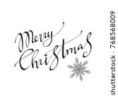 merry christmas vector text... | Shutterstock .eps vector #768568009