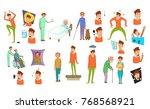 human disease icon set. cartoon ... | Shutterstock .eps vector #768568921