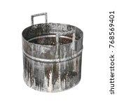 old bucket stain  fuel oil... | Shutterstock . vector #768569401