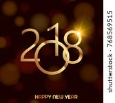happy new year background with... | Shutterstock .eps vector #768569515
