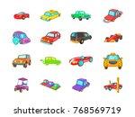 car icon set. cartoon set of... | Shutterstock .eps vector #768569719