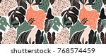 seamless pattern  hand drawn... | Shutterstock .eps vector #768574459