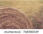 Small photo of Round Haybale in Field