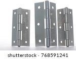 door hinges  white background | Shutterstock . vector #768591241