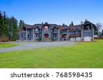 beautiful curb appeal of a...   Shutterstock . vector #768598435