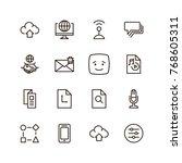 social network icon set.... | Shutterstock .eps vector #768605311