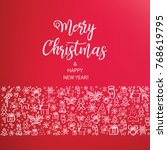 merry christmas and happy new... | Shutterstock .eps vector #768619795