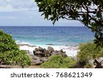 coastal view of the blue waters ...   Shutterstock . vector #768621349