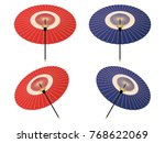 japanese umbrella vector... | Shutterstock .eps vector #768622069