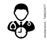 Doctor Appointment Icon Vector...